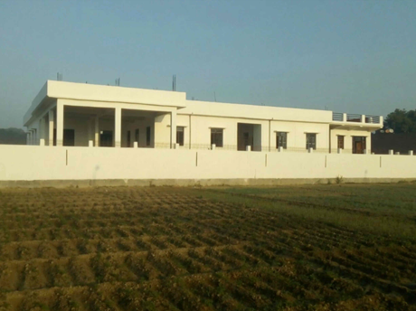 School building from West side